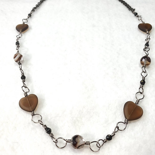 CoCo Heart Wire Wrapped Necklace