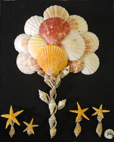 Shell Art- Starfish Flowers / Shell tree
