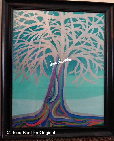 TreeDay | Original Acrylic Painting by Jena Basiliko