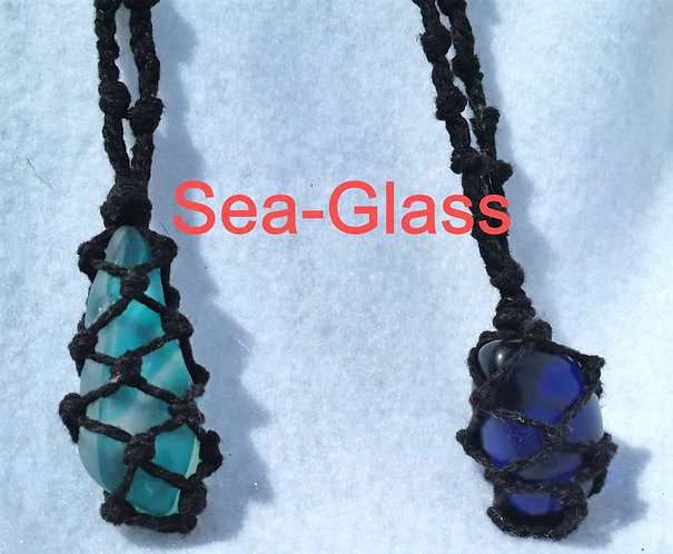 Sea Glass-Design Your Adjustable Macramé Necklace Today