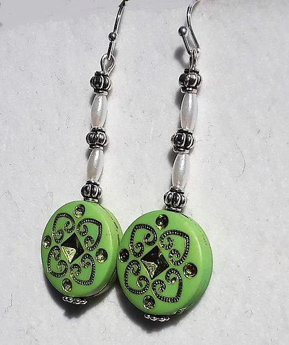 Green Dingley Earrings | Jewelry | Silver