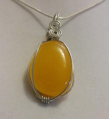 Calcite | Wire wrapped Calcite pendant | Jewelry