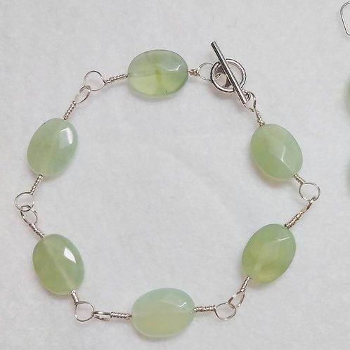 Prehnite | Bracelet | Set | Wire Wrapped Jewelry