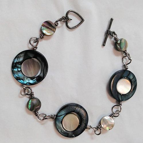 Blue Seashell Bracelet | Jewelry | Shell beads | Set