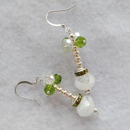 Green Crystal Earrings | Jewelry | Silver