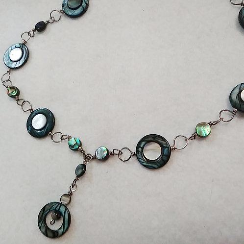 Blue Seashell Necklace | Jewelry | Shell beads | Set
