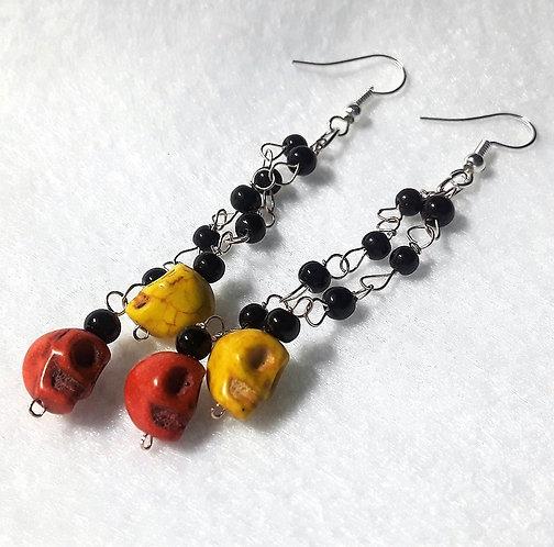 Dangly Scull Halloween Earrings | Halloween Jewelry