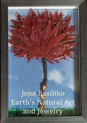 Earth Art | Japanese Maple | 3D Framed Natural Art