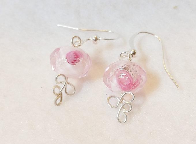 Rosebuds Lampwork Earrings | Silver | Jewelry