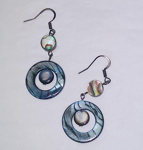 Blue Seashell Earrings   Jewelry   Shell beads   Set