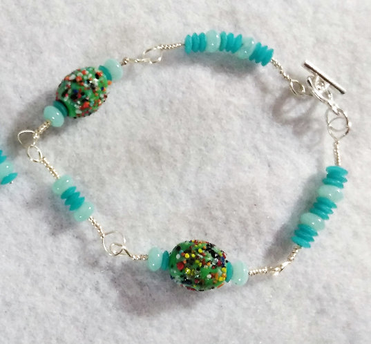 Bracelet | Alien Beads| Blue | Jewelry