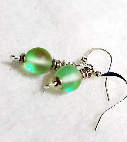 Green Mystic Aura Earrings