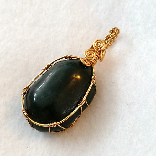 Jade | Wire Wrapped Pendant | Jewelry