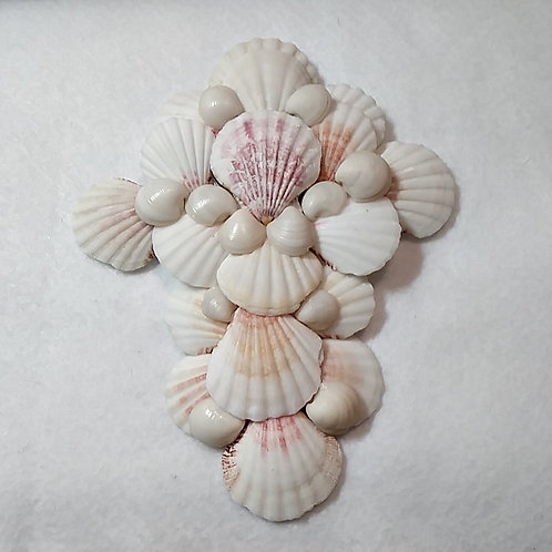Seashell wall cross by Earth's Natural Art and Jewelry