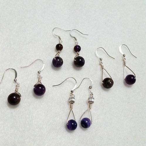 Amethyst Earring Calming Gemstones | Jewelry