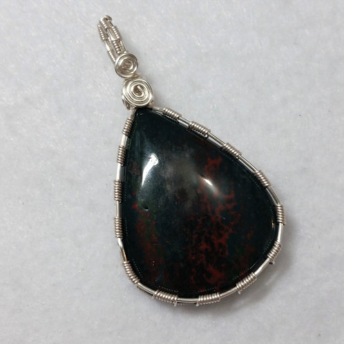 Bloodstone | XLarge Wire Wrapped Pendant