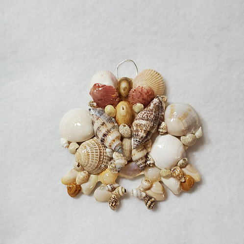 Frog Ornament / Wall Hanger Covered with Seashells
