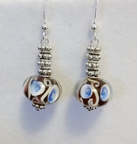 Blue Lampwork Earrings | Silver | Jewelry