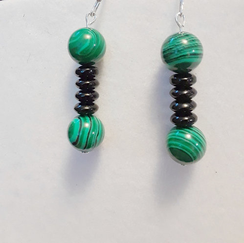 Malachite earrings | Jewelry |Earrings | Malachite