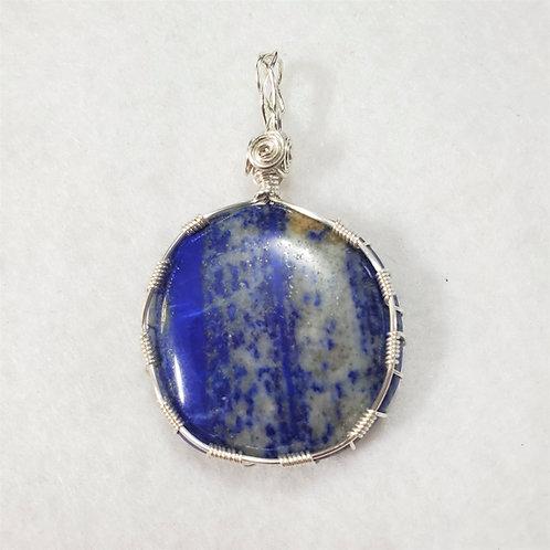 Lapis Lazuli Wire Wrapped Pendant