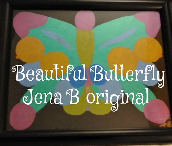 Butterfly Parts | Framed Painting (1)