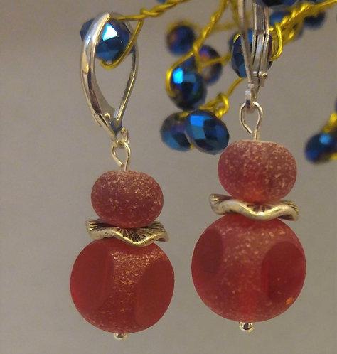 Red Sea Glass | Earrings | Jewelry