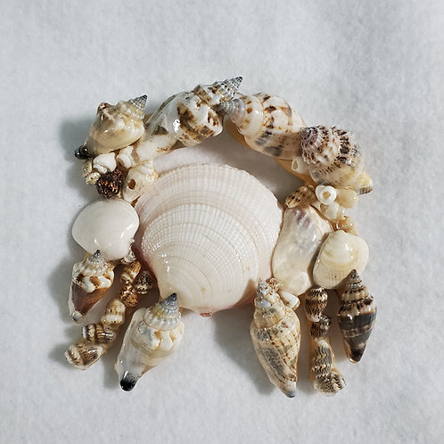 Crab Ornament / Wall Hanger Covered with Seashells