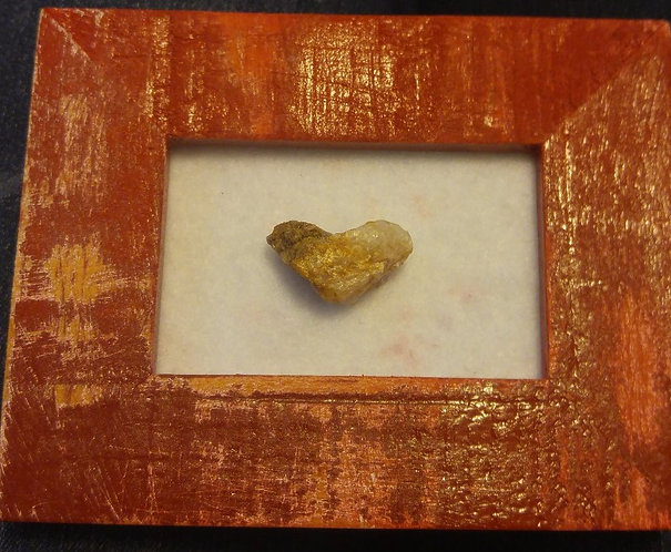 Framed stone heart