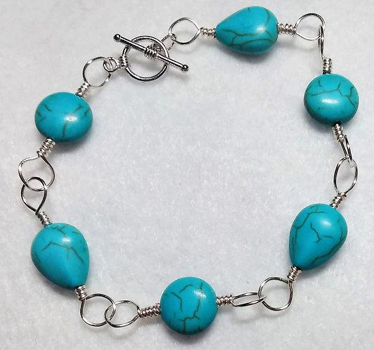 Bracelet | Turquoise | Wire Wrapped Bracelet