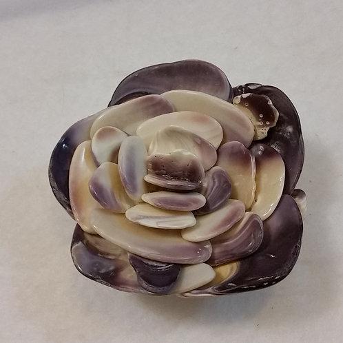 East Coast Shell Flower | Dark Purple | Quahog | Shell Art | Paperweight