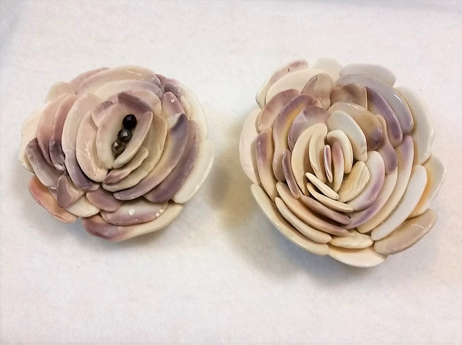 Shell Flower | Paperweight | Pink Shell Flowers