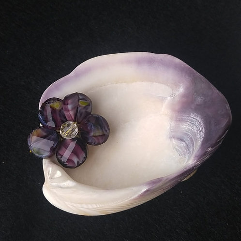 Purple Shell Tray | Colorful Flower | Home Decor