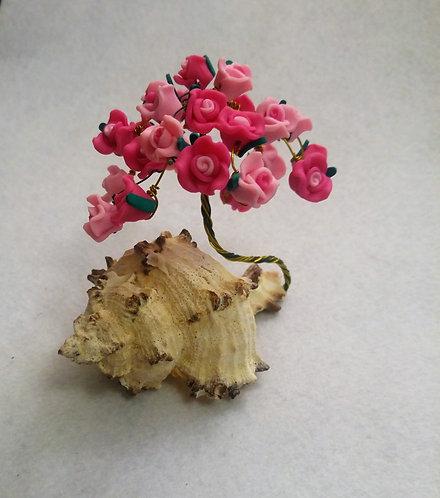Pink Flower Tree | Wire Tree | Tree of Life | Bead Tree