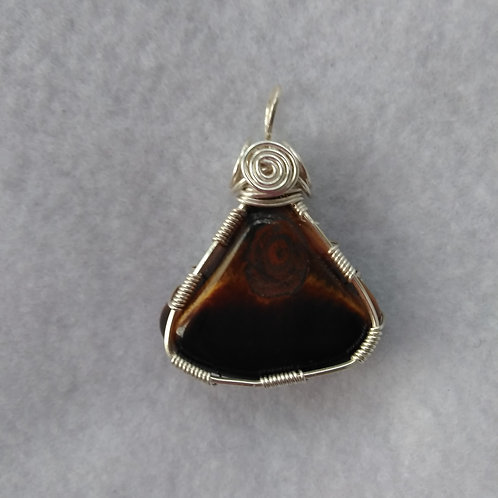 Tiger Eye | Reversible | Wire Wrapped Pendant
