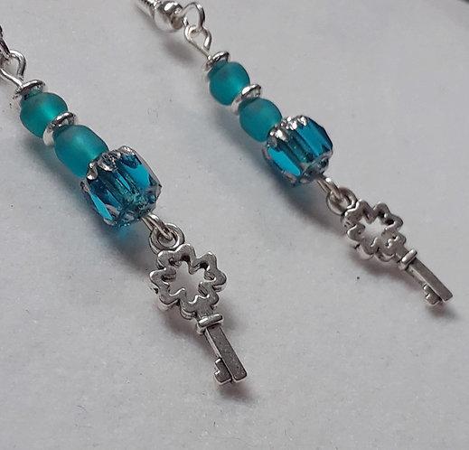 Blue Key | Handcrafted Earrings
