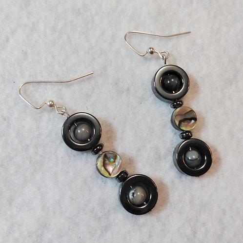 Abalone Shell | Hematite Earrings | Jewelry