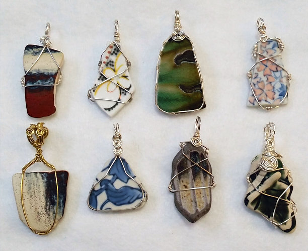 Pottery Pendants by Earth's Natural Art and Jewelry