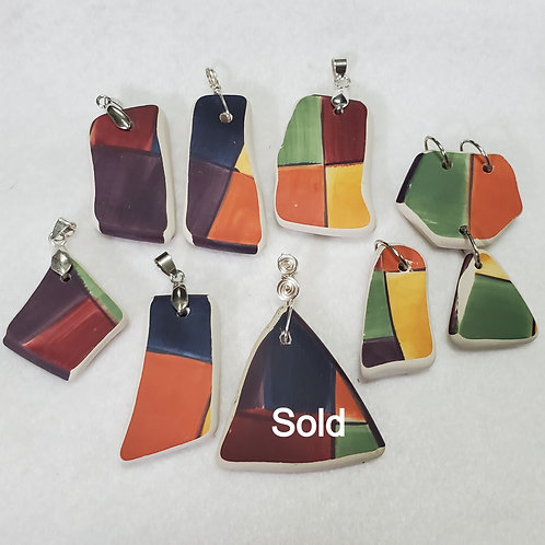 Pottery Pendants | Platter | Handcrafted Jewelry