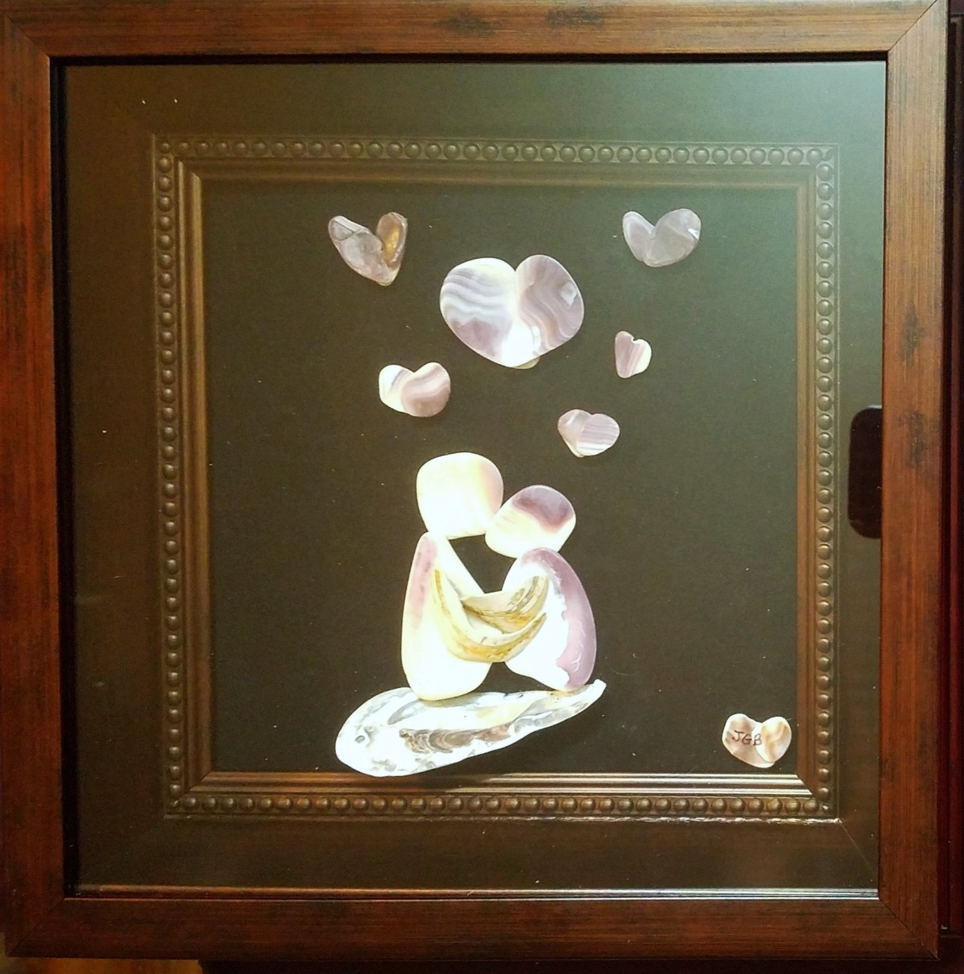 Shell Wall Art -First Kiss by Earth's natural Art and Jewelry