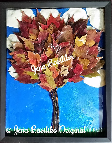 Earth Art | Sycamore Tree | 11x14 |Glassless | 3D Touchable Natural Art