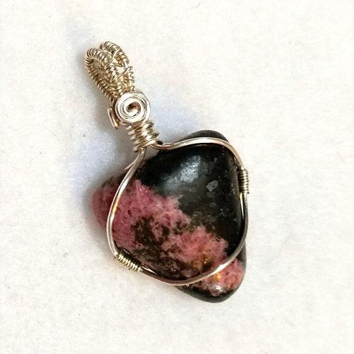 Rhodolite Wire Wrapped Gemstone