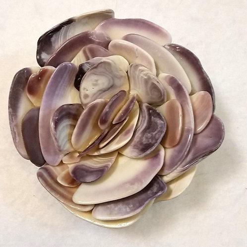 Seashell Flower | East Coast Shells | Quahog Shells | Paperweight