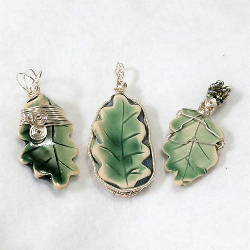 Leaf Pottery Pendants | Recycled Waterfall