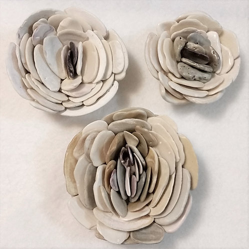 Shell Flower | White | Paperweight