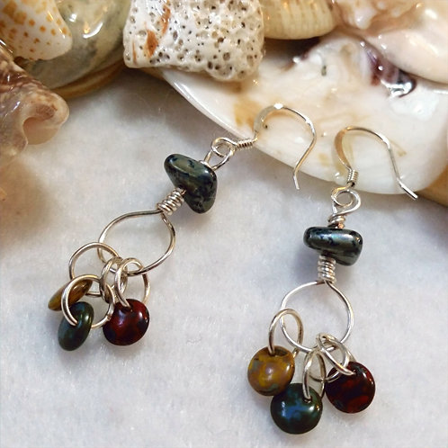Lightweight Three Dangle Earrings