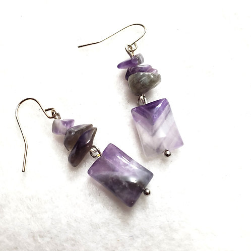 Amethyst Earrings | Protection Stone
