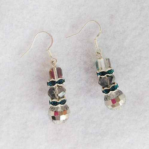 Triple Decker Crystal Earrings | Jewelry