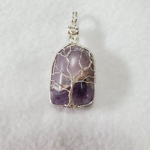 Amethyst Tree of Life | Calming Stone| Wire Wrapped Pendant