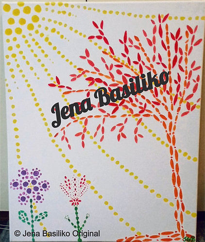 Dot Dot and away | Painting | Artist Jena B | 16 x 20 inch Signed Origin