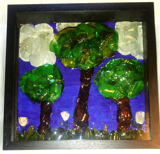 Glass Art | Trees | Flowers | Beer and wine bottles